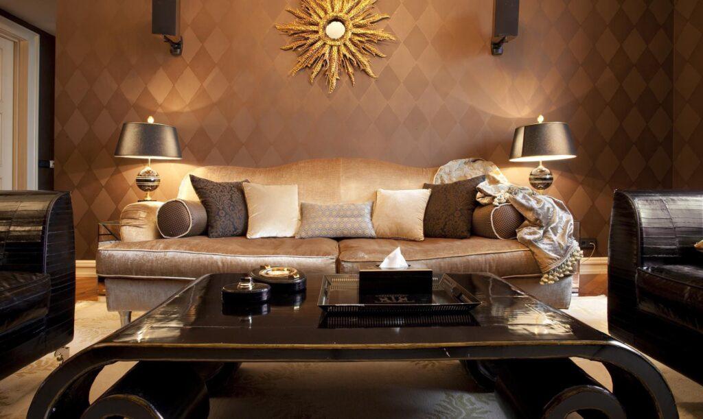 Phong cách thiết kế nội thất Art Deco tạo nên thiết kế nội thất ấn tượng, đẹp mắt và sự độc đáo cho không gian. Ảnh sưu tầm.