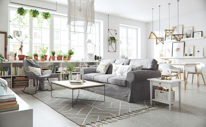 Phong cách thiết kế nội thất Bắc Âu luôn đề cao vẻ đẹp đơn giản, mộc mạc, tiện dụng và tinh tế đang trở thành xu hướng rất được ưa chuộng. Ảnh sưu tầm.