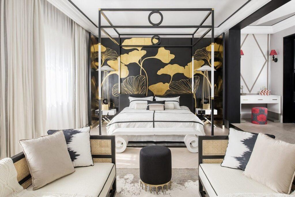 Đồ nội thất trong phong cách Đông Dương hiện lên đầy sang trọng. (Ảnh sưu tầm)