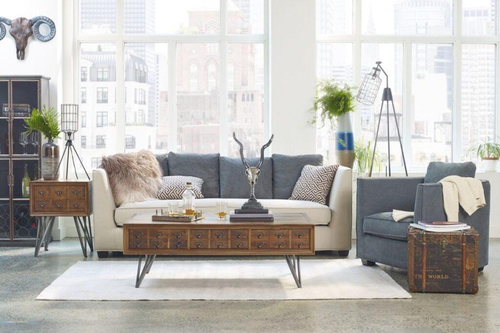 Phòng khách theo phong cách thiết kế Retro được trang trí đẹp mắt (Ảnh sưu tầm)