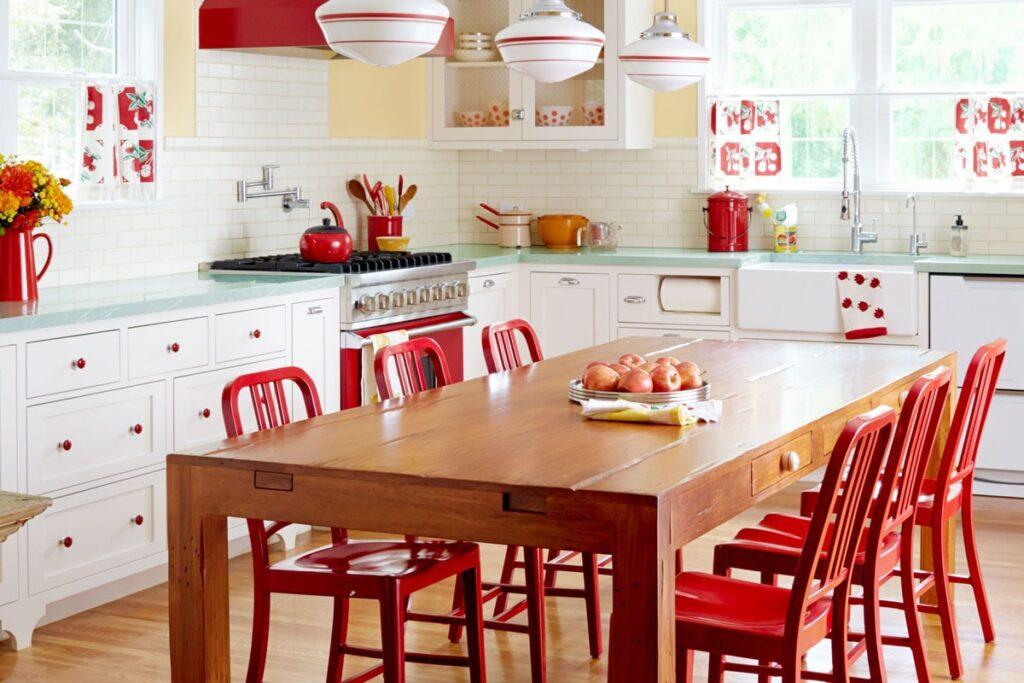 Phòng bếp ấm cúng theo phong cách Retro. (Ảnh sưu tầm)