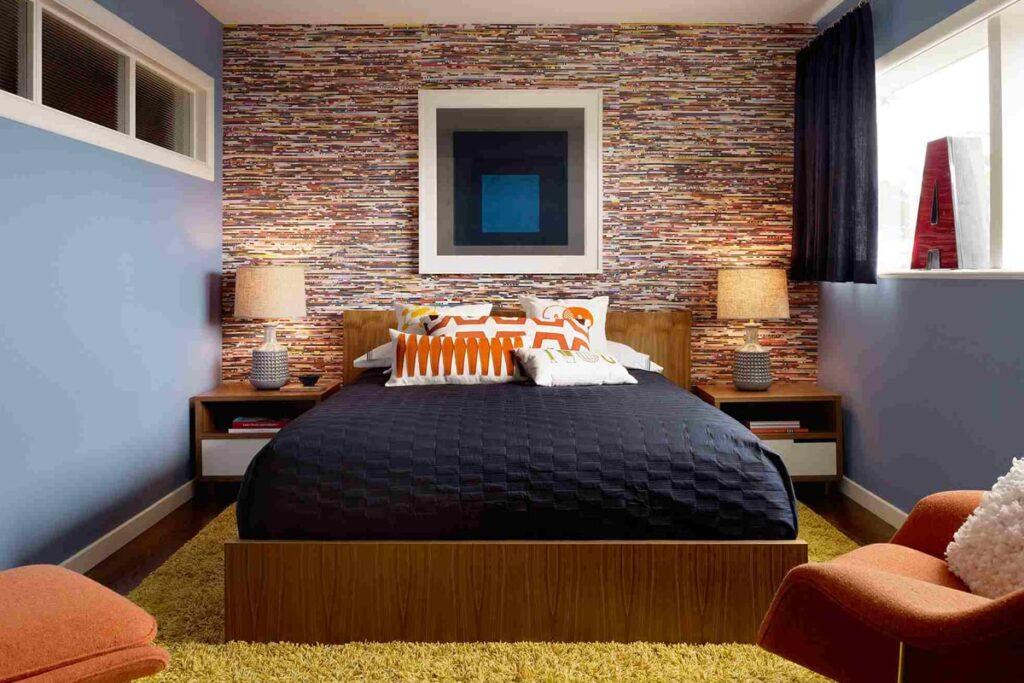 Sự ấm cúng trong phòng ngủ mang phong cách thiết kế Retro. (Ảnh sưu tầm)