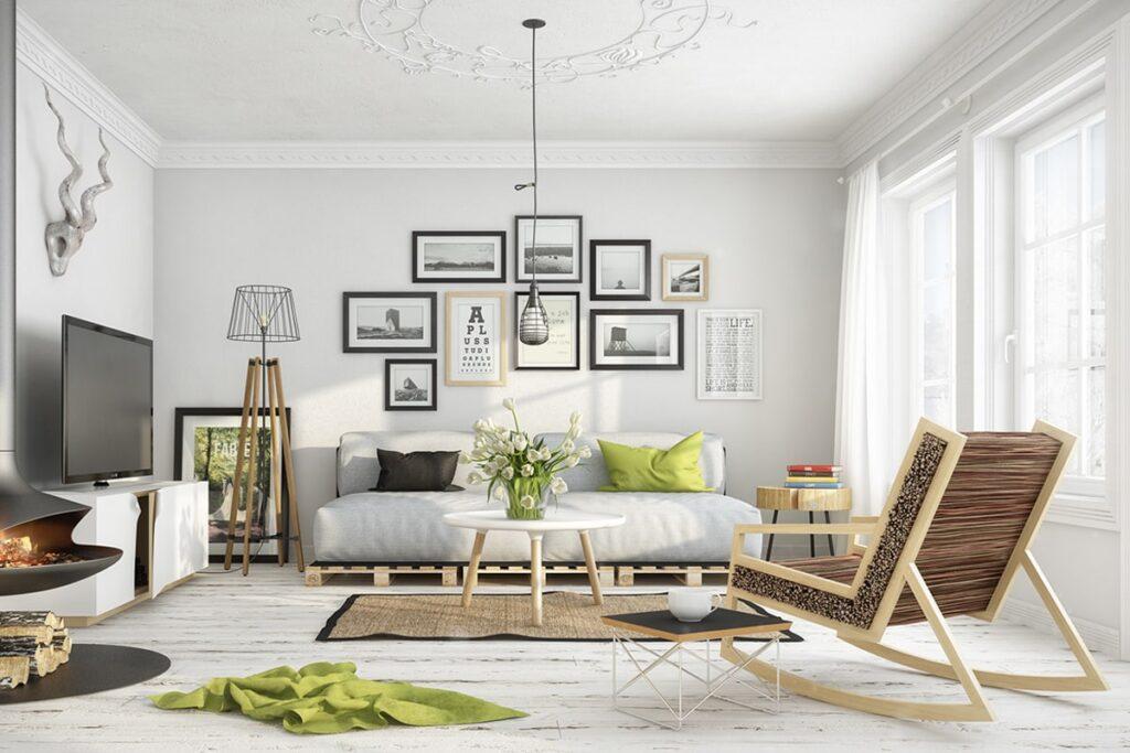 Gỗ là chất liệu được ưa chuộng trong phong cách thiết kế Scandinavian. (Ảnh sưu tầm)