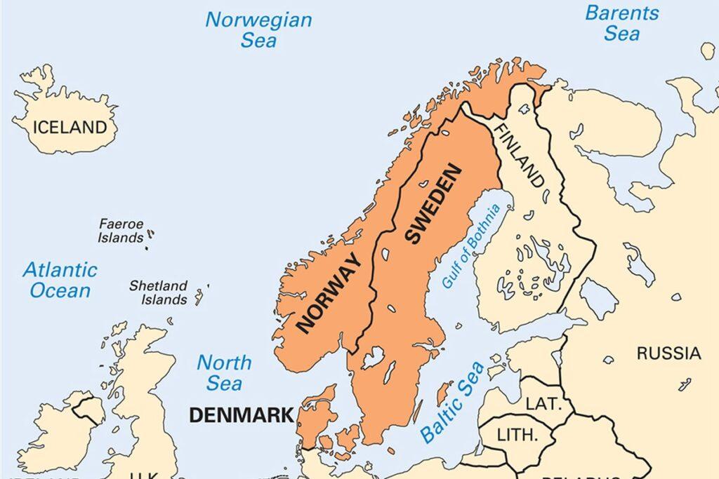 Các quốc gia thuộc vùng Scandinavia. (Ảnh sưu tầm)