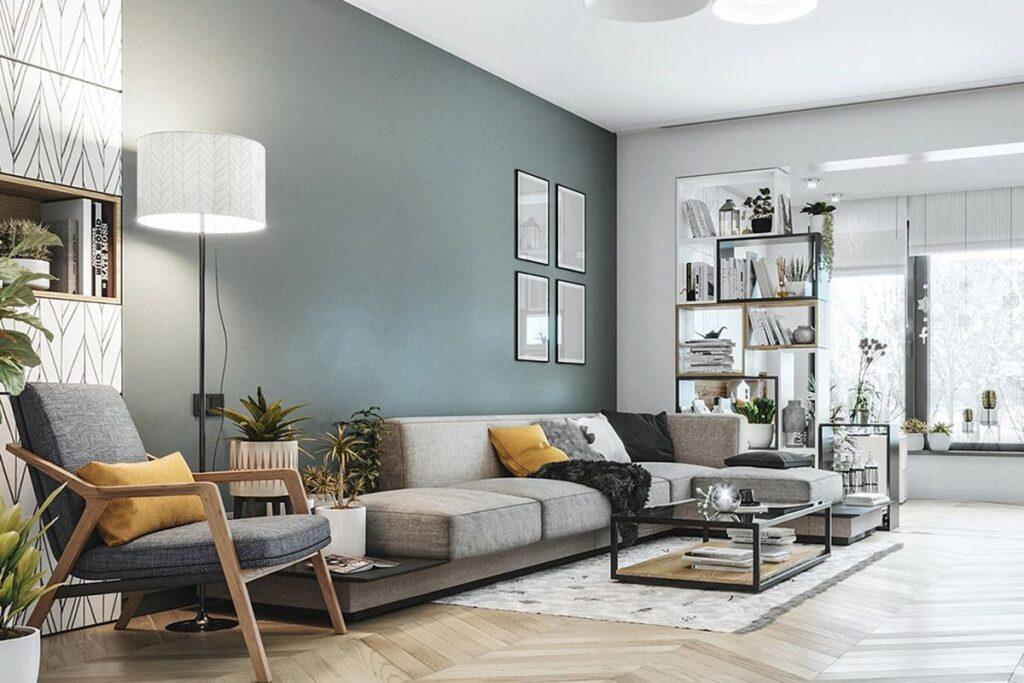 Phòng khách sử dụng các gam màu trung tính đặc trưng của phong cách Scandinavian. (Ảnh sưu tầm)