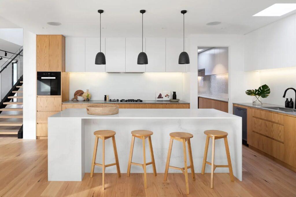Phòng bếp theo phong cách Scandinavian thoáng đãng, hiện đại. (Ảnh sưu tầm)