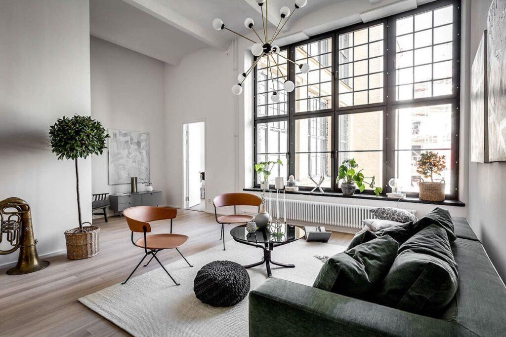 Scandinavian Modern với những món đồ nội thất hiện đại. (Ảnh sưu tầm)