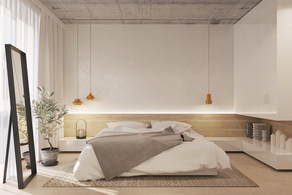 Phòng ngủ đơn giản nhưng vô cùng ấm cúng (Ảnh sưu tầm)