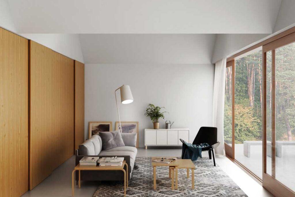 Những bức tường tối giản với sơn bóng mịn (Ảnh sưu tầm)