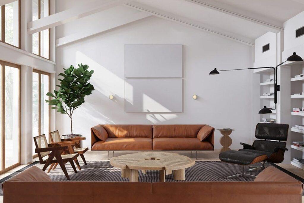 Ánh sáng tự nhiên tạo hiệu ứng tốt cho căn phòng mang phong cách tối giản (Ảnh sưu tầm)