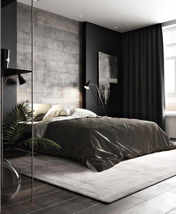 Càng hạn chế hoa văn trong trang trí và thiết kế nội thất phòng ngủ căn hộ 55m2 càng giúp tiết kiệm diện tích tốt hơn. Ảnh sưu tầm.