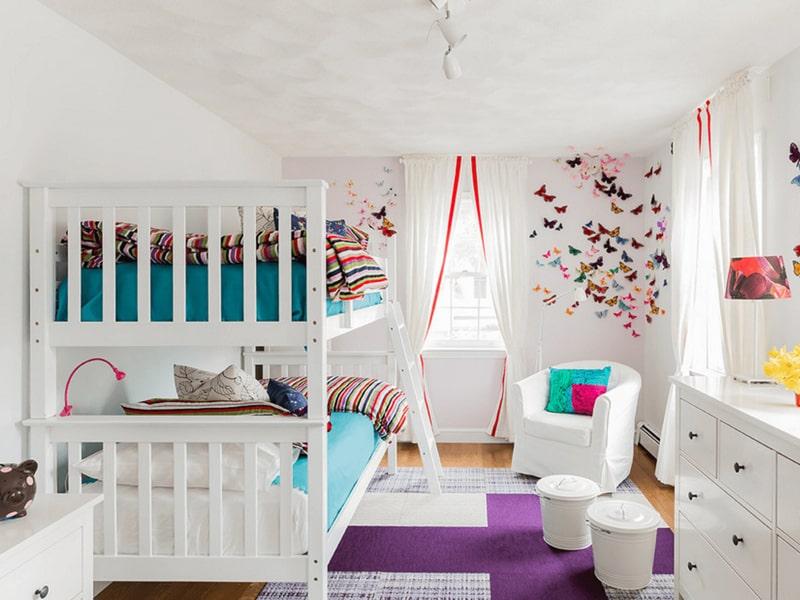 Giường tầng là một lựa chọn tối ưu cho phòng của hai bé gái (Ảnh sưu tầm)