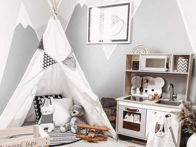 Lều cắm trại ấn tượng trong phòng ngủ bé gái (Ảnh sưu tầm)