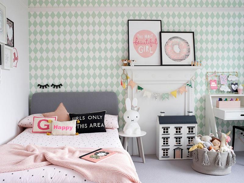 Phòng ngủ được bài trí phù hợp với các bé từ 12 - 13 tuổi (Ảnh sưu tầm)