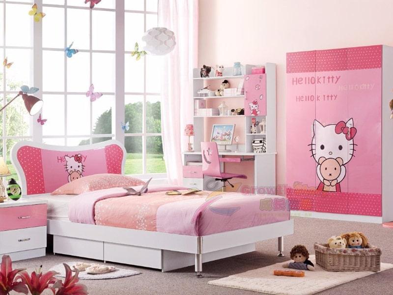Phòng ngủ Hello Kitty ngập tràn sắc hồng (Ảnh sưu tầm)