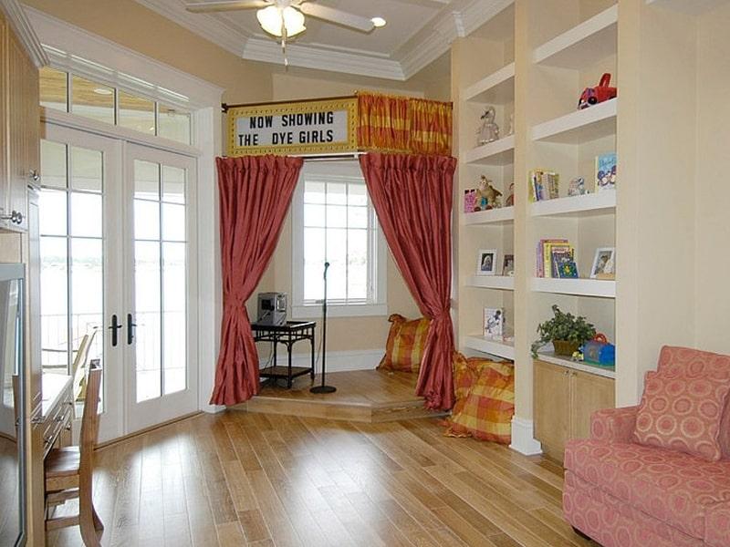 Phòng ngủ kiểu sân khấu giúp bé tự tin hơn (Ảnh sưu tầm)