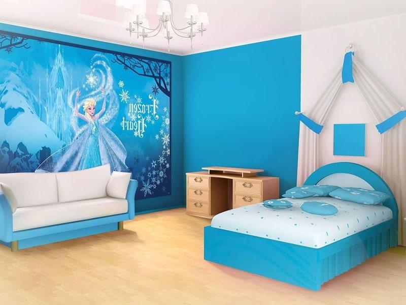 Một căn phòng được lấy cảm hứng từ phim hoạt hình Frozen (Ảnh sưu tầm)