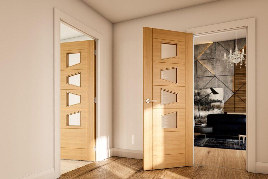 Cửa gỗ sồi có khả năng chống mối mọt tốt. (Ảnh sưu tầm)