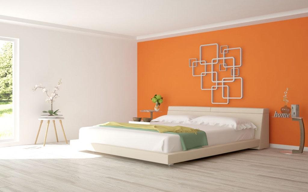Kết hợp màu cam trong phòng ngủ nhưng vẫn khiến bạn cảm thấy dễ chịu