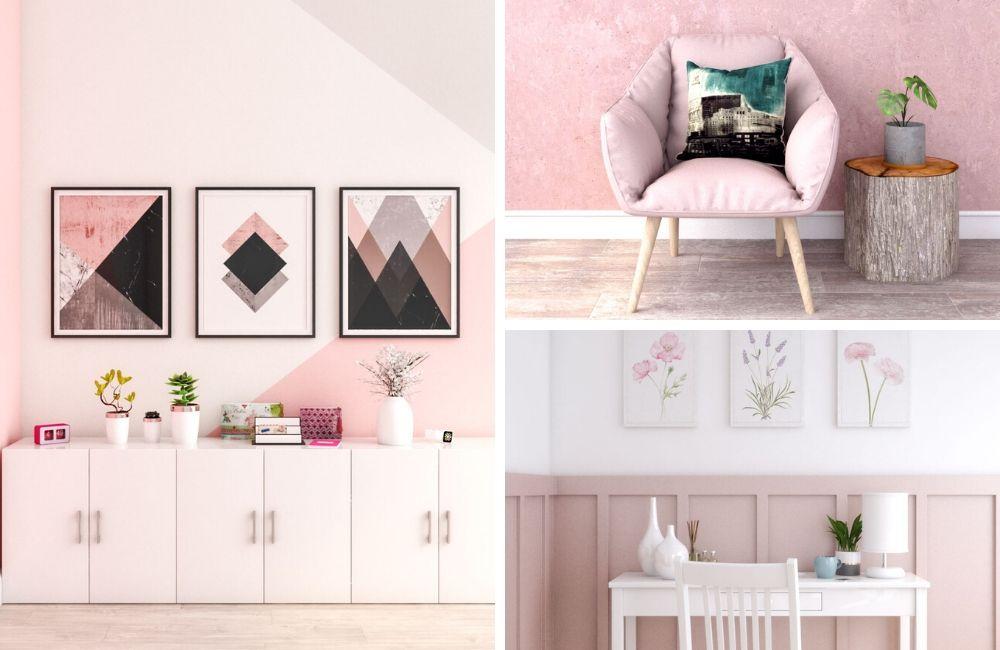 Một số góc thiết kế với tone màu hồng chủ đạo