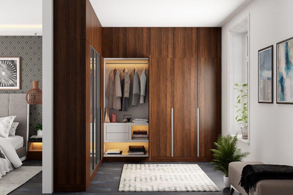 Vẻ đẹp gần gũi, sang trọng của tủ quần áo gỗ tự nhiên. (Ảnh sưu tầm)