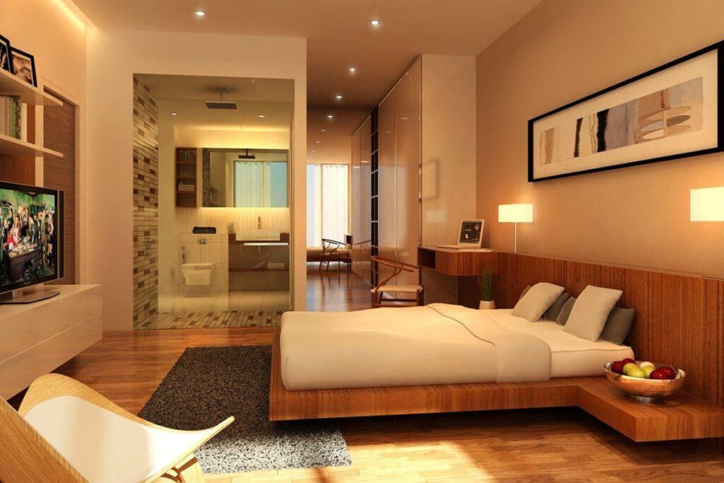 Giường gỗ tự nhiên mang đến giấc ngủ ngon cho gia chủ. (Ảnh sưu tầm)