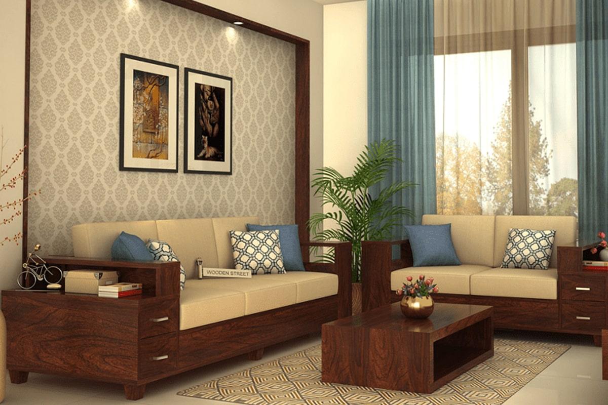 Sofa gỗ tự nhiên được nhiều gia đình yêu thích. (Ảnh sưu tầm)