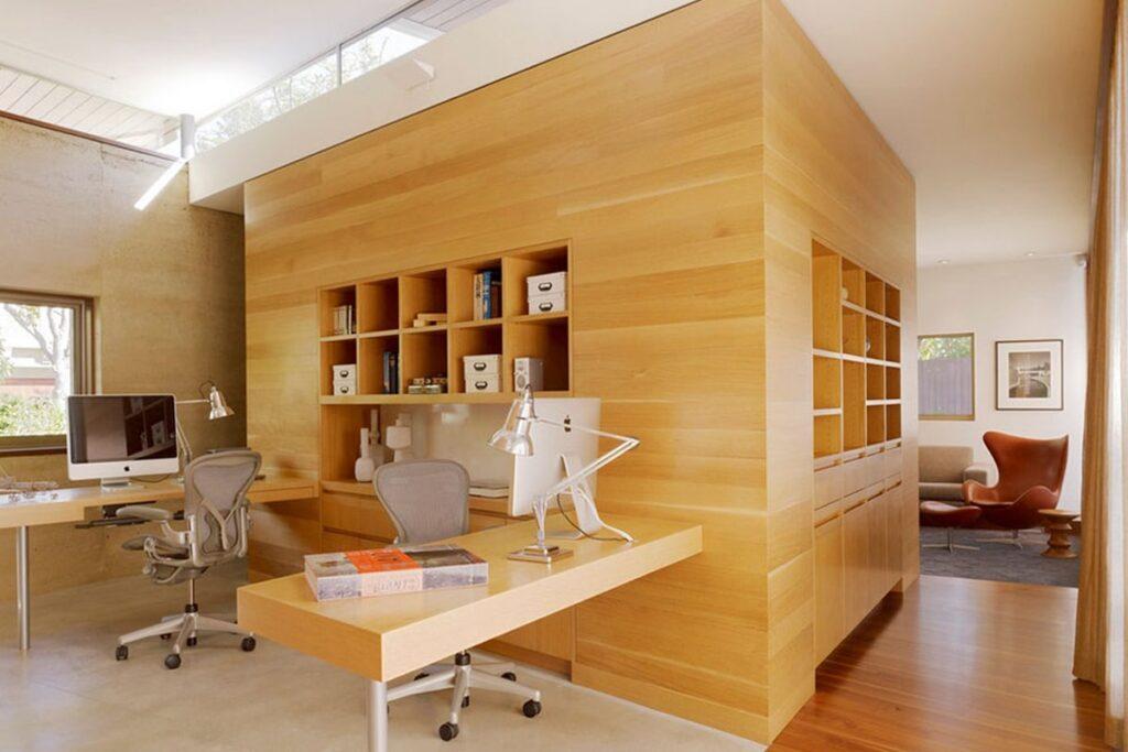 Nội thất gỗ tự nhiên với kiểu dáng ấn tượng. (Ảnh sưu tầm)