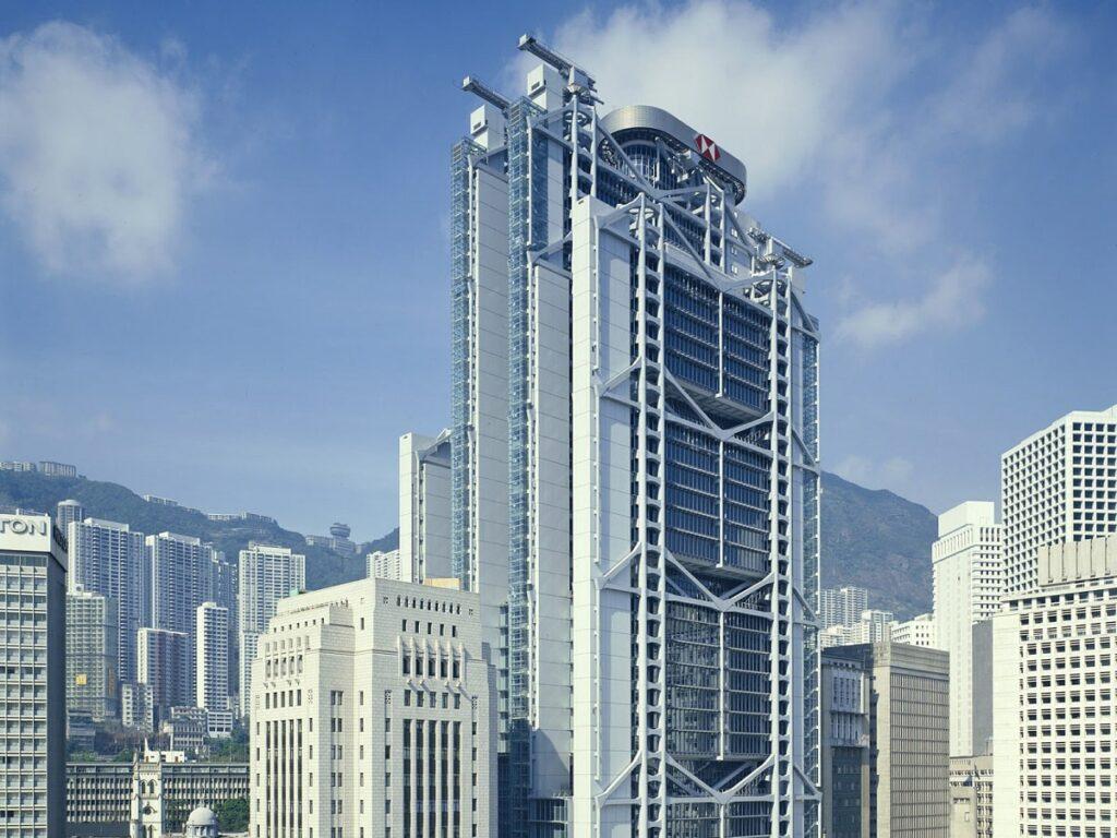 Kiến trúc Hitech được sử dụng trong thiết kế tòa nhà văn phòng. Ảnh sưu tầm