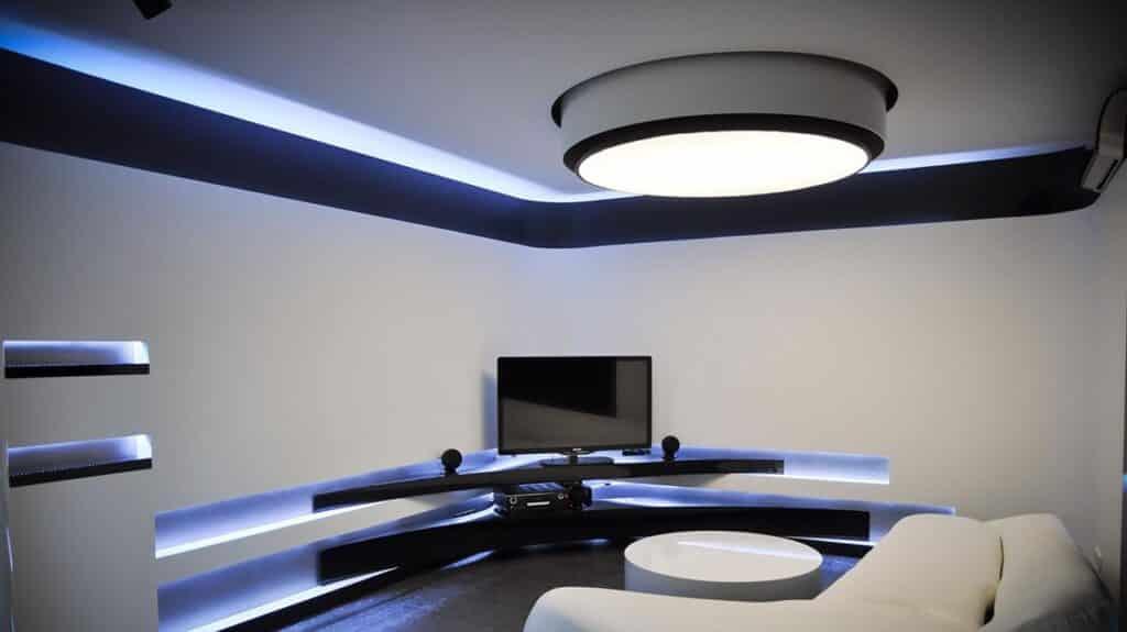 Kiến trúc Hitech chú trọng thiết kế chiếu sáng nhân tạo trong không gian. Ảnh minh họa sưu tầm