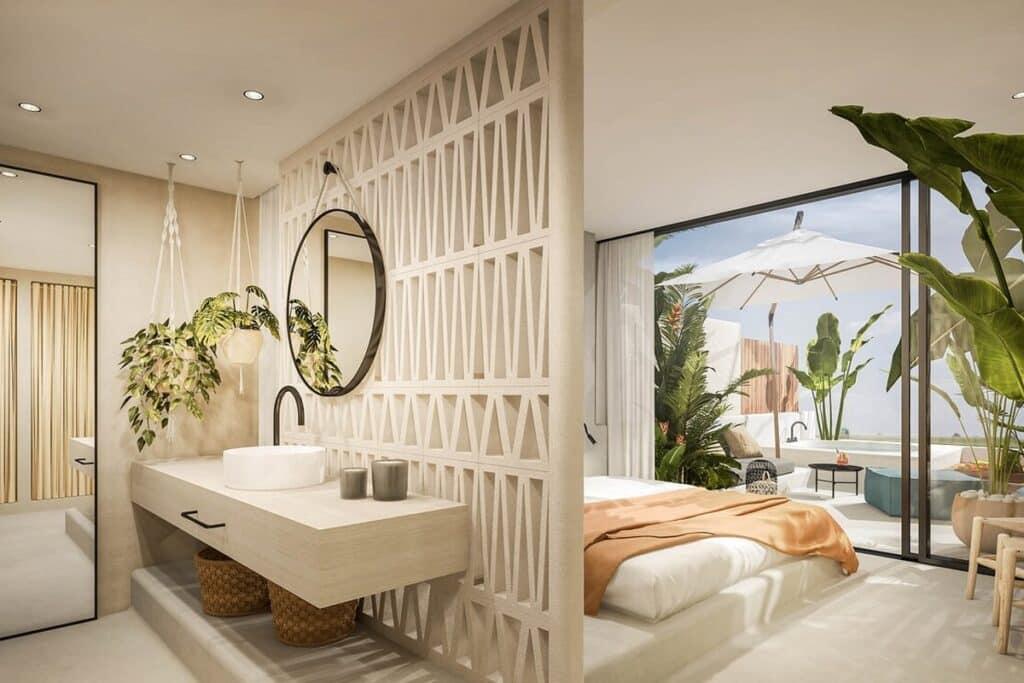 Phong cách Rustic hiện đại được ứng dụng trong thiết kế Resort cao cấp
