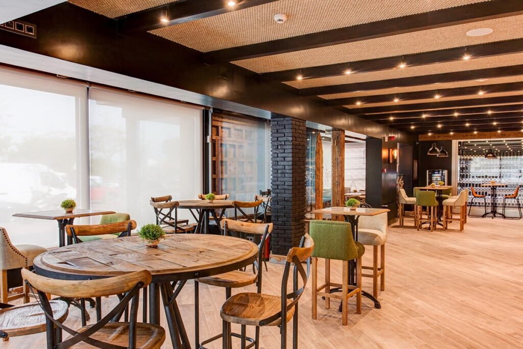 Nhà hàng mang phong cách Rustic rất được lòng khách hàng