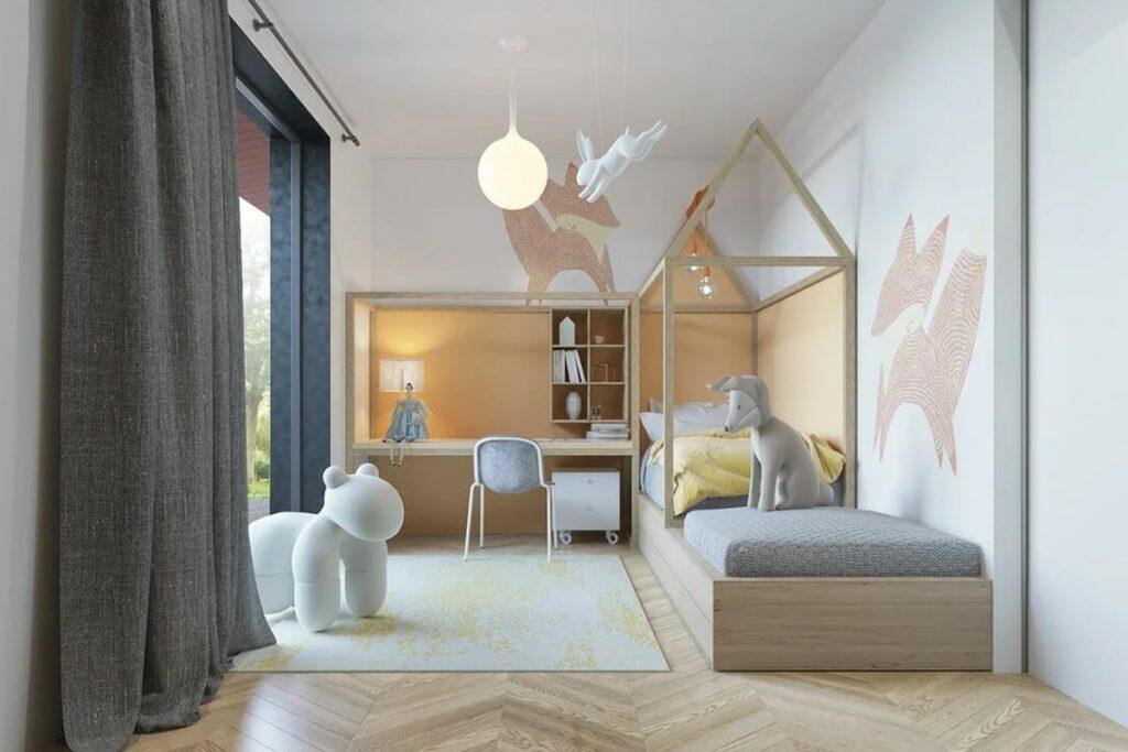 Phòng ngủ của bé nên được thiết kế thông thoáng