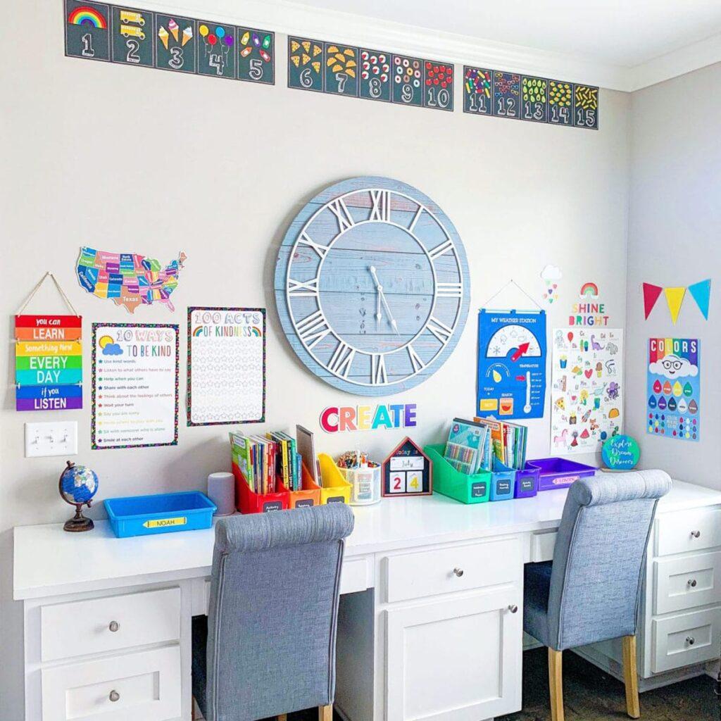 Trang trí bàn học phải gọn gàng, sạch sẽ sẽ khiến tâm trạng người học tích cực, thoải mái