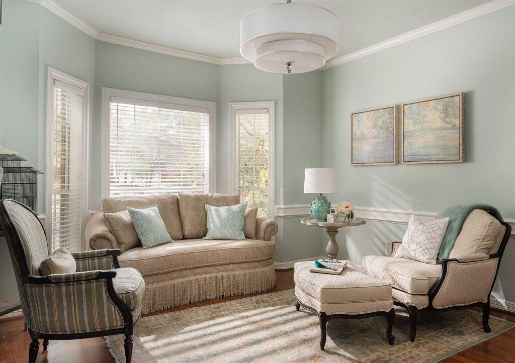 Màu sắc phòng khách nên phù hợp với bản mệnh của gia chủ