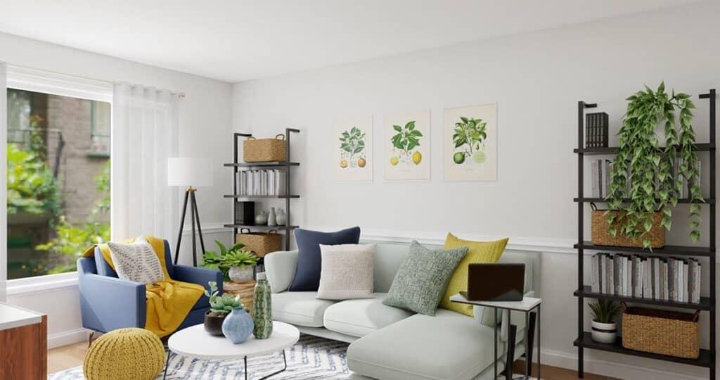 Cây cảnh trang trí phòng khách phải hợp mệnh và được đặt ở vị trí phù hợp