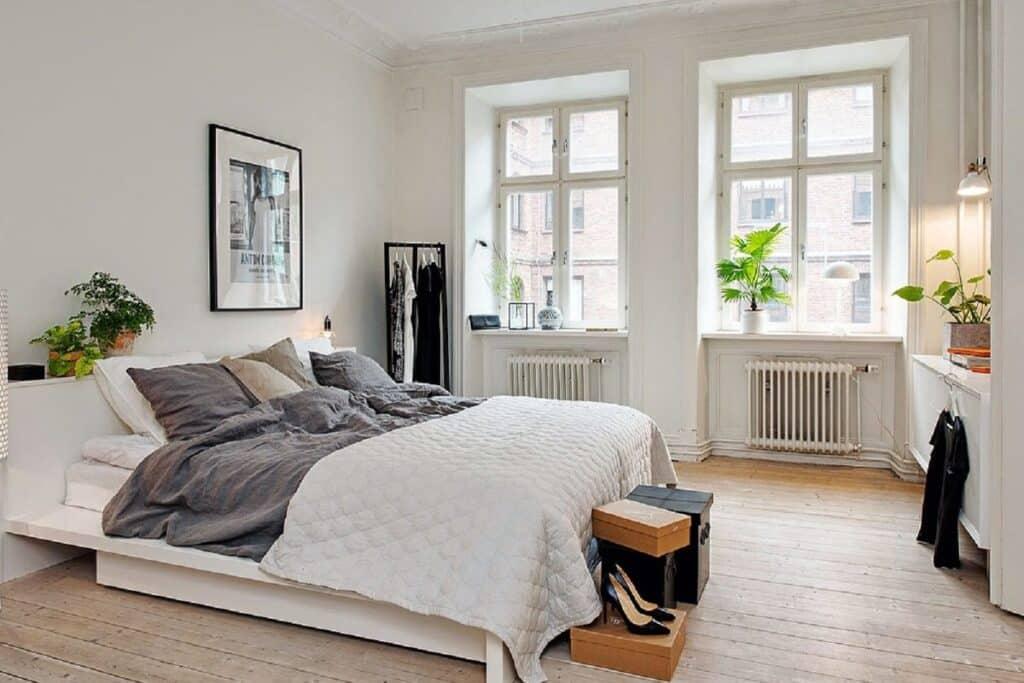 Giường ngủ cần được đặt ở vị trí có điểm tựa