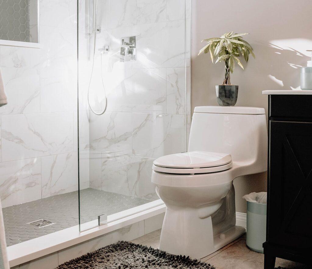 Hướng đặt Toilet tốt nhất nên là vuông góc hoặc chéo với cửa phòng vệ sinh