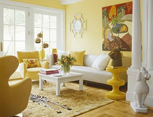 Sử dụng các tone vàng nhạt sẽ khiến bạn cảm thấy dễ chịu và thoải mái