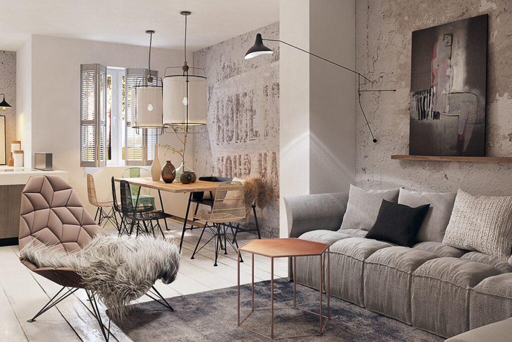 Nhu cầu thiết kế nội thất chung cư 70m2 ngày càng tăng cao. (Ảnh sưu tầm)