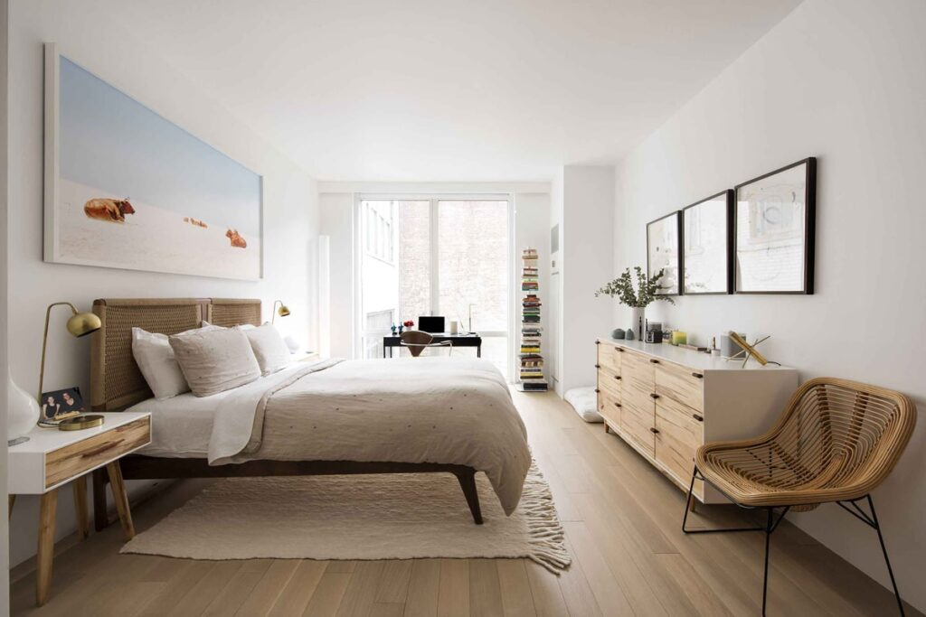 Ứng dụng phong cách hiện đại khi thiết kế chung cư 2 phòng ngủ. (Ảnh sưu tầm)