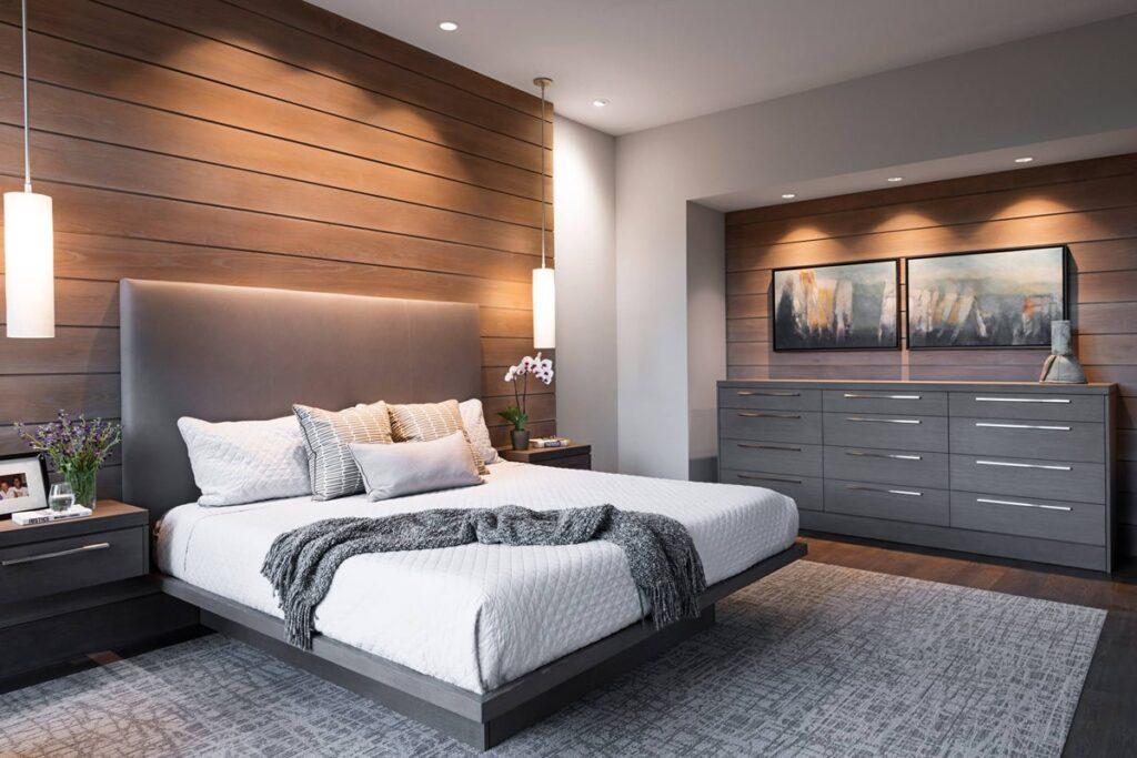 Phòng ngủ sang trọng, ấm cúng trong chung cư 3 phòng ngủ. (Ảnh sưu tầm)