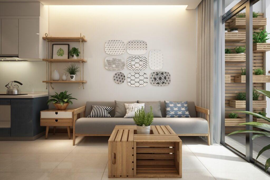 Màu sắc hài hòa trong thiết kế nội thất chung cư 70m2. (Ảnh sưu tầm)