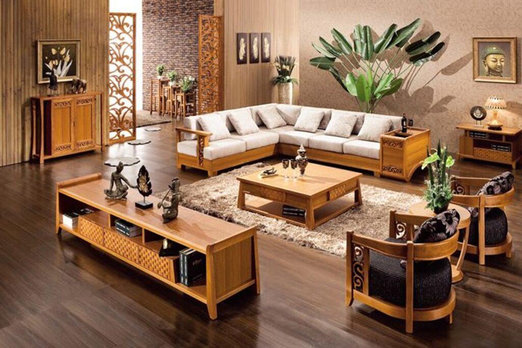 Bàn ghế gỗ hương sở hữu vẻ đẹp rất riêng. (Ảnh sưu tầm)