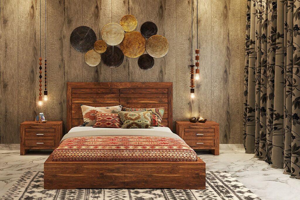 Giường gỗ hương mang đến cảm giác thư giãn cho gia chủ. (Ảnh sưu tầm)