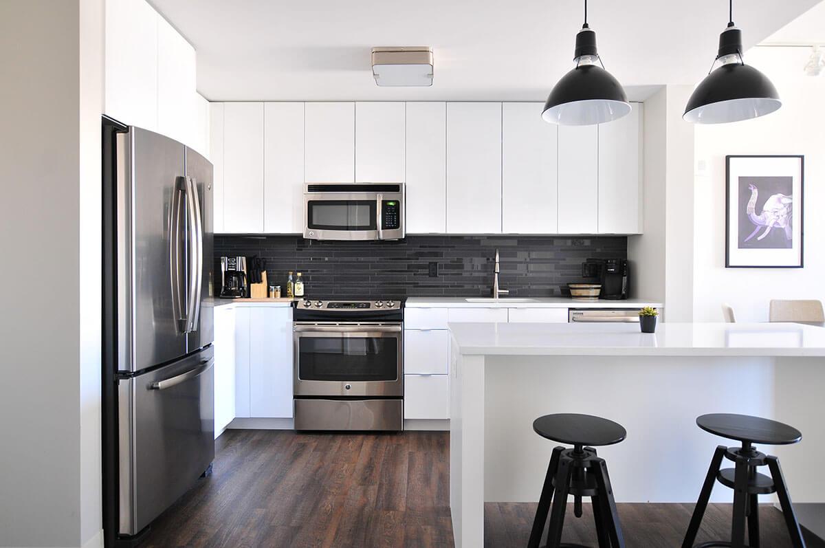 Khi thiết kế phòng bếp, kích thước cũng cần được tính toán theo phong thủy