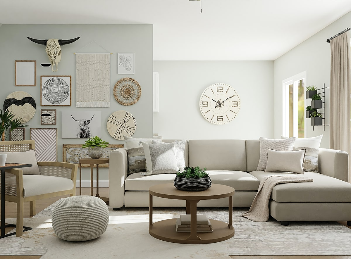 Phòng khách 20m2 sẽ tương xứng với căn nhà có tổng diện tích từ 100 đến 150m2. (Ảnh sưu tầm)