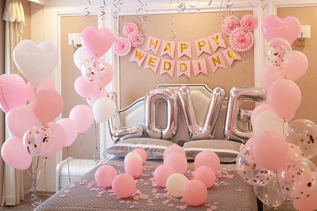 Phòng tân hôn là không gian riêng của hai vợ chồng