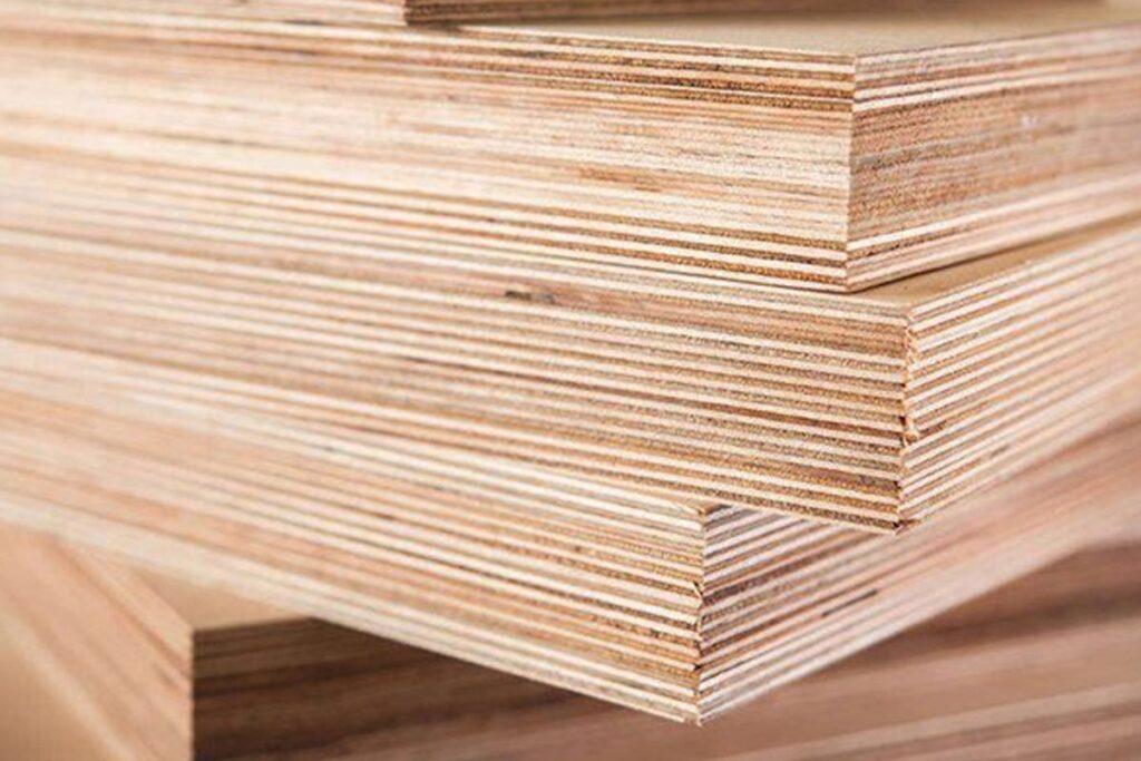 Gỗ ván ép Plywood được cấu tạo từ nhiều lớp gỗ mỏng. (Ảnh sưu tầm)