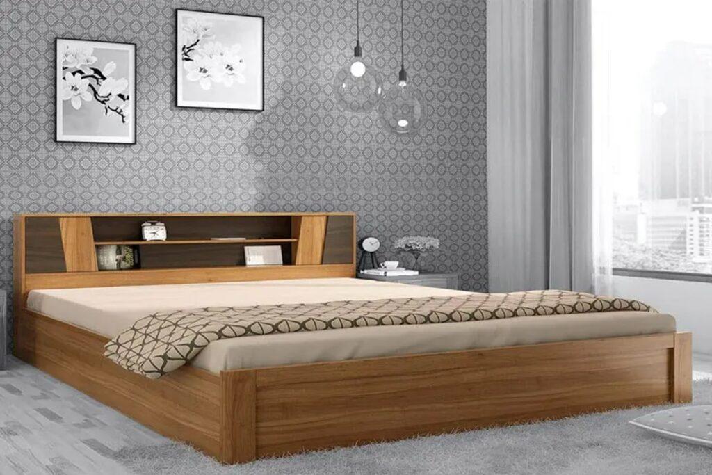Giường ngủ gỗ ván ép rất chắc chắn, có độ bền cao. (Ảnh sưu tầm)